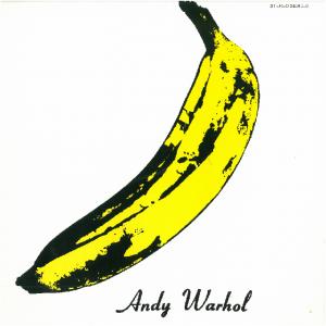 La célèbre pochette à la banane par Andy Warhol de The Velvet Underground & Nico