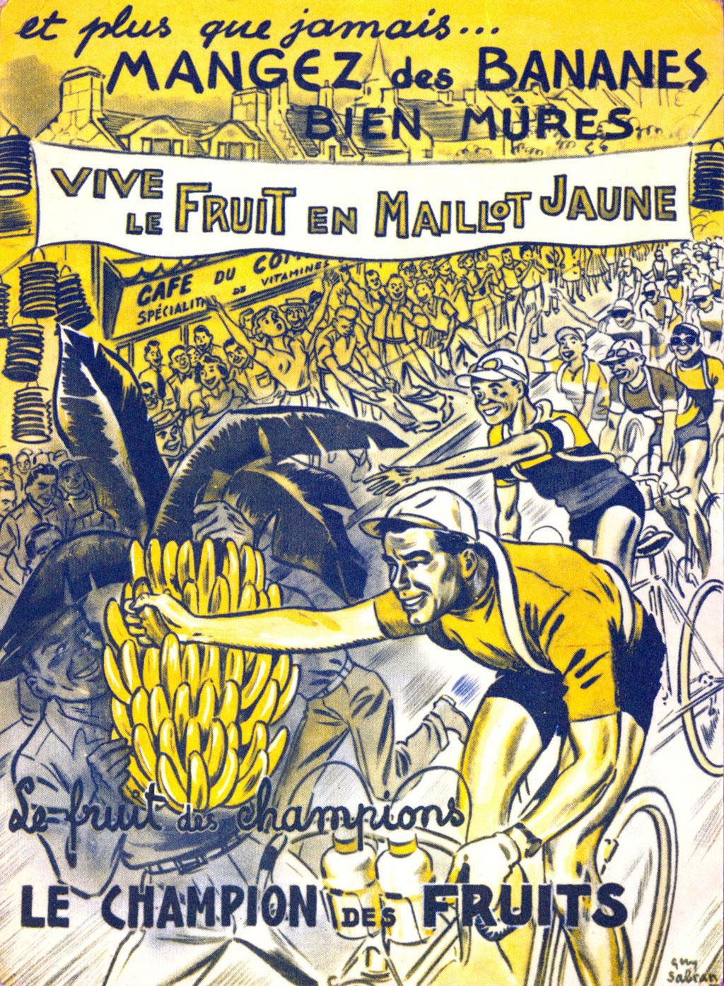 Publicité banane tour de France