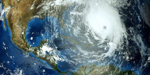 Vue satellite d'un cyclone. Crédits : Adobe stock