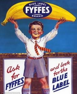 Publicité de 1930 de l'importateur irlandais de bananes canariennes, Fyffes. Crédits : The Advertising Archives