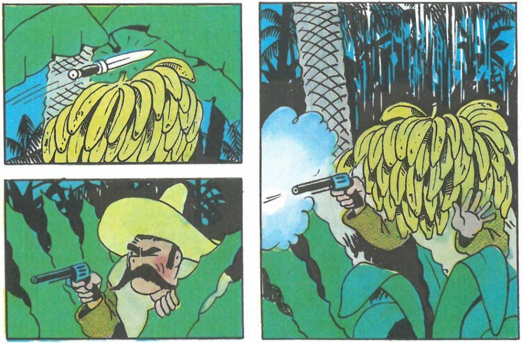 Hergé et les bananes