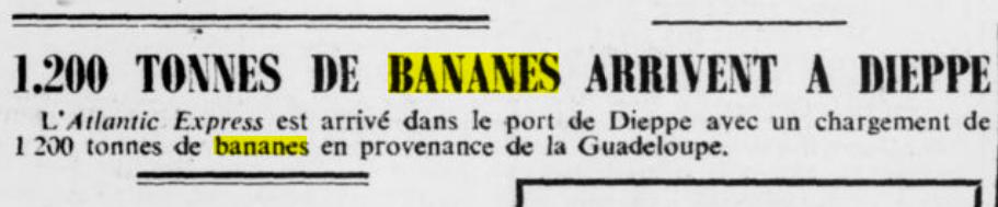 banane et seconde guerre mondiale